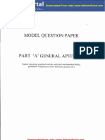 CSIR UGC NET Model Question Papers General Aptitude