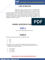 CSIR UGC NET Model Question Papers Life Sciences
