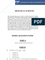CSIR UGC NET Model Question Papers Mathematical Sciences