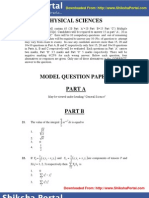 CSIR UGC NET Model Question Papers Physical Sciences