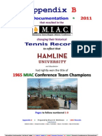 9-1-2012 Appendix B, Pages 1-9 Proof That Hamline Was the 1965 MIAC Tennis Conference Champions.