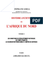 Histoire Ancienne Afrique Du Nord Stéphane Gsell Tome1
