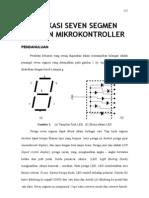 Aplikasi Seven Segmen Dengan Mikrokontroller At89s51 Dengan c