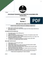 2012 PSPM Kedah Sains 1 w Ans