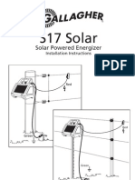 3E1399 S17 Solar Powered Energizer Installation Instructions Edition 4