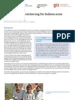 Eine Krankenversicherung für Indiens arme Bevölkerung
