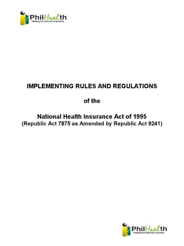 Philhealth Act Irr Ra 9241 Identity Document Public Health