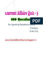 Current Affairs Quiz 3 - For Upcoming Competetive Exams