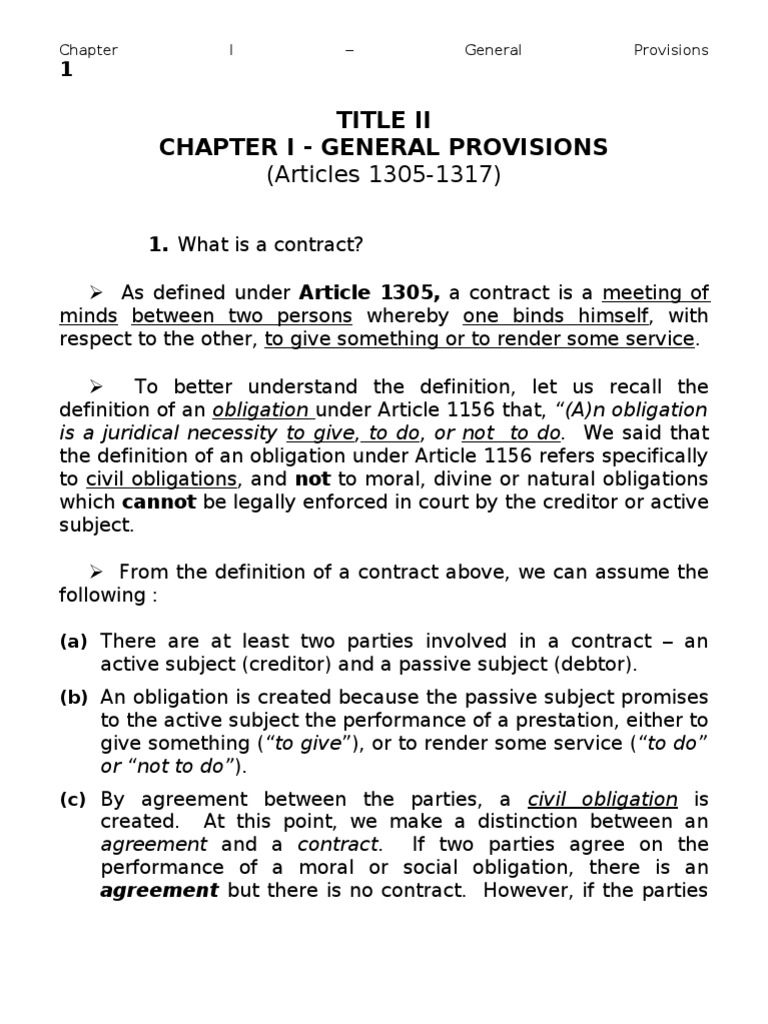 essential requisites of contract Chapter 2 essential requisites of contracts general provisions art 1318 there is no contract unless the following requisites concur: (1) consent of the contracting parties.