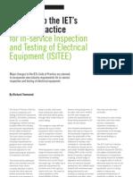 Changes to IET Code of Practice