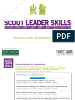 Demonstration Scout Leader Skills - Les Scouts BE
