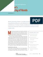 Masclow's Hieracrhy of Needs