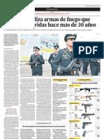 Armas de la policía tienen más de 30 años - Tema del día - El Comercio (Lima)