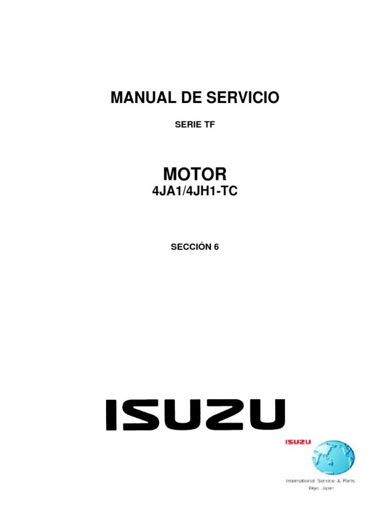 Manual de Taller Chevrolet D-MAX 4jh1