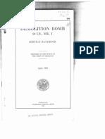 Handbook 994 50 Lb Demo Bomb 1920