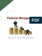 Financail Managment by Muneeb Sada 2012