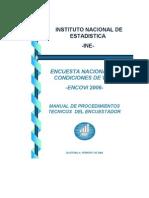 Manual Encuestador ENCOVI2006
