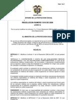 Resolucion 1918 de 2009 - Modificacion de La Resolucion 2346 de 2007