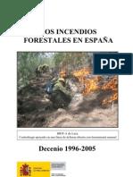 Los Incendios Forestales en El Decenio 1996_2005