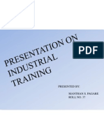 Industrial Project Ppt
