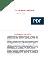 Pulido y ataque electrolítico más método tampón