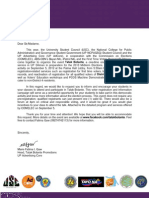 TATAK BOTANTE Letter for Professors