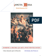 Livret Messe du 14e Dimanche après la Pentecôte / Booklet Mass of the 14th Sunday after Pentecost