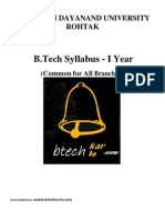 B.tech MDU Syllabus 1yr (Common)