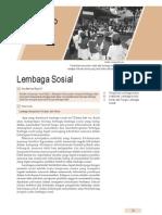 2. Lembaga Sosial