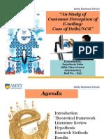 e-tailing/electronic retailing Dissertation Presentation