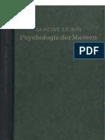 Le Bon, Gustave - Psychologie der Massen (1922, 168 S., Scan)