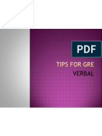 Tips for GRE Verbal