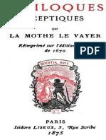 Soliloques sceptiques by François de la Mothe le Vayer