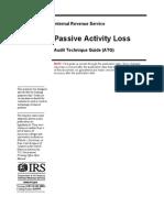Passive Activity Loss Audit Technique Guide