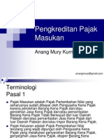 PPN - 07 - Pengkreditan Pajak Masukan