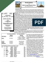 St. Joseph's September 2, 2012 Bulletin