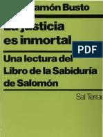 Busto, Jose Ramon - La Justicia Es Inmortal