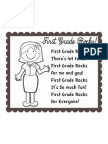 First Grade Rocks (Back to School poem)