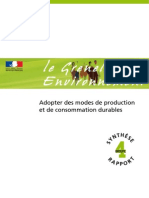REG-INF grenelle de l'environnement _mode de production et de conseommation durables _rapport final _fr2007