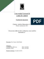 Ecuaciones Diferenciales Ordinarias Como Modelos Matematicos (2)