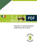 Grenelle Environnement & Santé _rapport Final