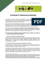 Grenelle Environnement & Santé _synthèse