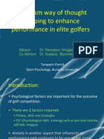 Buddhism Way of Thought Stopping to Enhance Performance in Elite Golfers