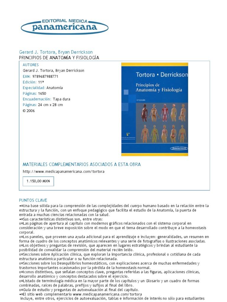 Principios de Anatomía y Fisiología