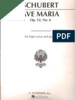 Schubert - Ave Maria - High Voice and Piano - Latin English German