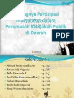 Pentingnya Partisipasi Masyarakat Dlm Perumusan Kebijakan Publik Di Daerah