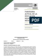 Panorama Actual de La Educacion Basica en Mexico