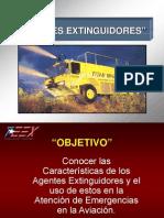 Agentes Extinguidores Para Emergencias Aeronauticas