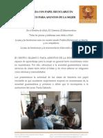 Informe de Las Clases de Bisuteria Con Papel Reciclable