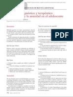 13.007 Protocolo diagnóstico y terapéutico del insomnio y la ansiedad en el adolescente